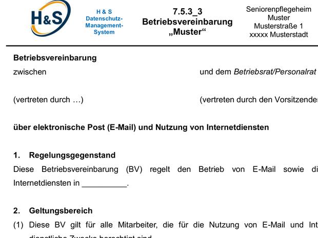 betriebsvereinbarung muster e mail internet microsoft word - Muster Betriebsvereinbarung