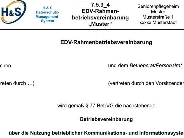 betriebsvereinbarung muster edv rahmen microsoft word - Muster Betriebsvereinbarung